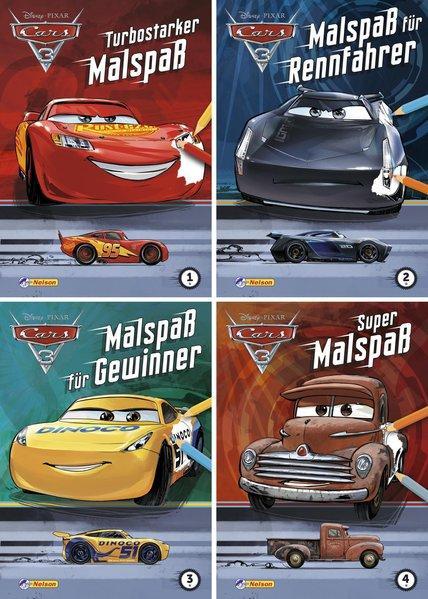 Disney Cars 3: 4er Bundle Malspaß