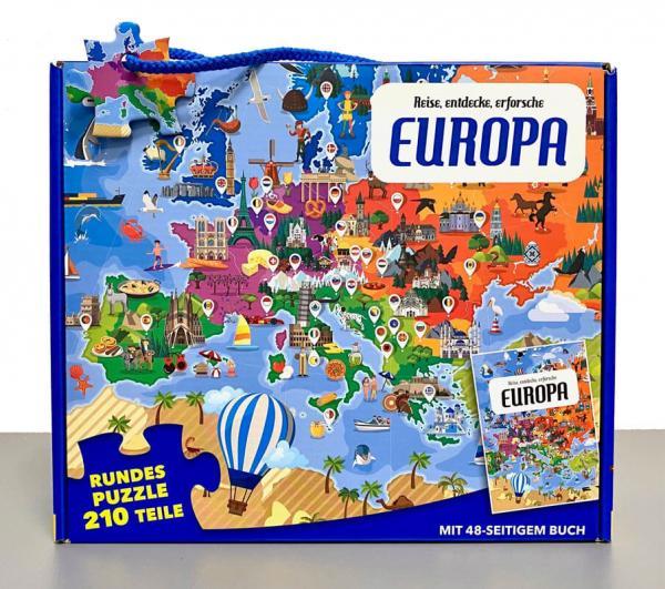 Reise, entdecke, erforsche: Europa - Buch + Puzzle