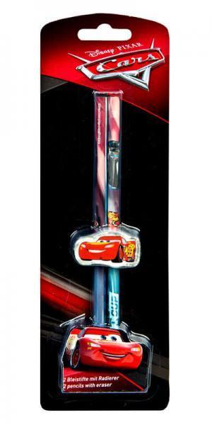 Cars: 2 Bleistifte mit Radierer