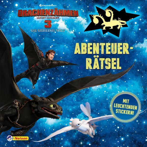 Drachenzähmen leicht gemacht 3: Abenteuerrätsel mit leuchtenden Stickern (Mängelexemplar)