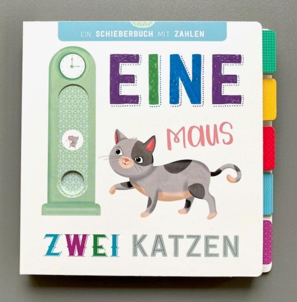 Eine Maus, zwei Katzen - Schieberbuch mit Zahlen (Mängelexemplar)