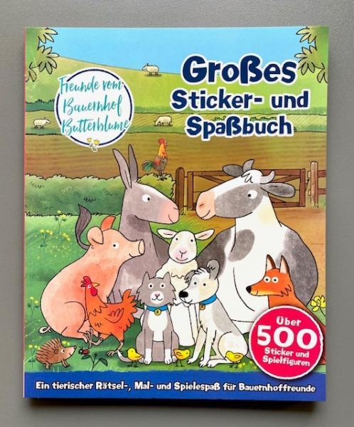 Großes Sticker- und Spaßbuch - über 500 Sticker und Spielfiguren (Mängelexemplar)