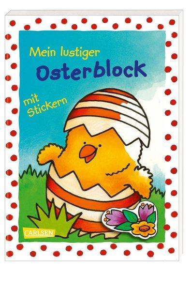 Mein lustiger Osterblock mit Stickern - Malspaß & Sticker zum Verzieren (Mängelexemplar)