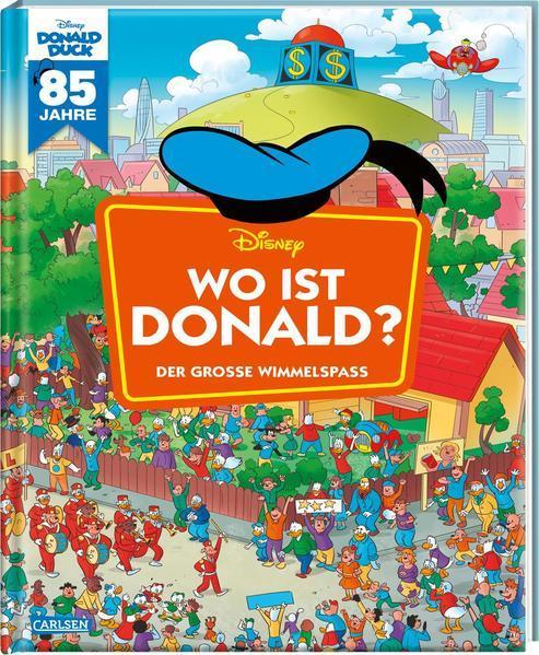 Disney: Wo ist Donald? – Wimmelbuch mit Donald Duck - Der große Wimmelspaß (Mängelexemplar)