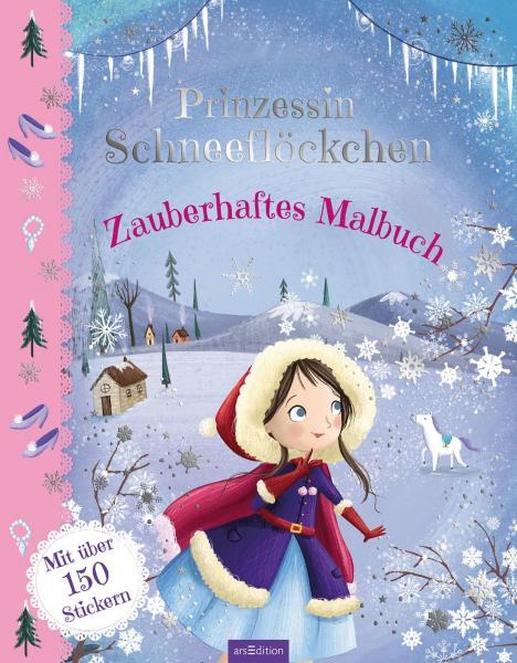 Prinzessin Schneeflöckchen - Zauberhaftes Malbuch - Mit über 150 Stickern (Mängelexemplar)