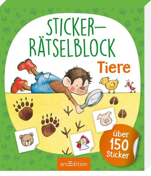 Sticker-Rätselblock Tiere (Mängelexemplar)