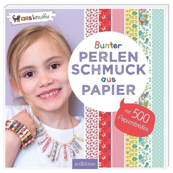 Bunter Perlenschmuck aus Papier - mit 500 Papierstreifen