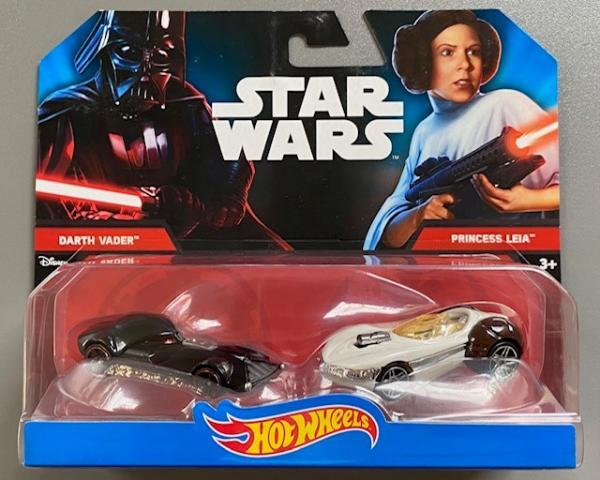 Hot Wheels Fahrzeuge: Star Wars - Darth Vader vs. Princess Leia