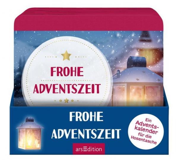Frohe Adventszeit - Adventskalender für die Hosentasche