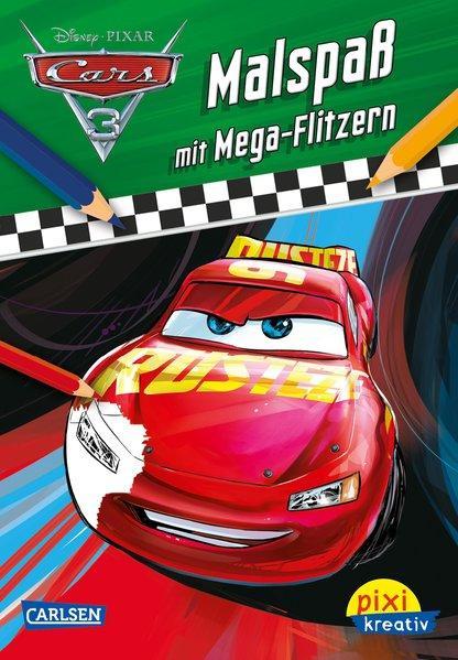 Pixi kreativ 110: Disney Cars 3 - Malspaß mit Mega-Flitzern (Mängelexemplar)