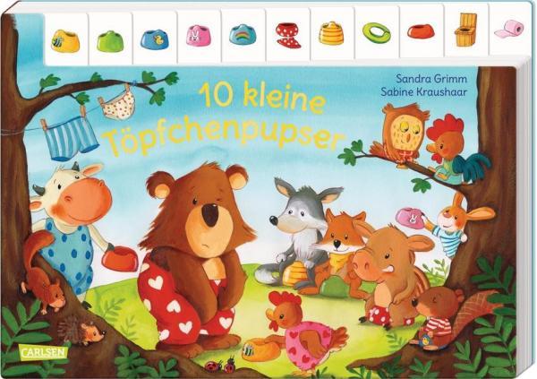 10 kleine Töpfchenpupser - Pappbilderbuch ab 2 Jahren