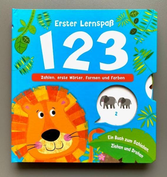 Erster Lernspaß 1, 2, 3 - Zahlen, erste Wörter, Formen und Farben (Mängelexemplar)