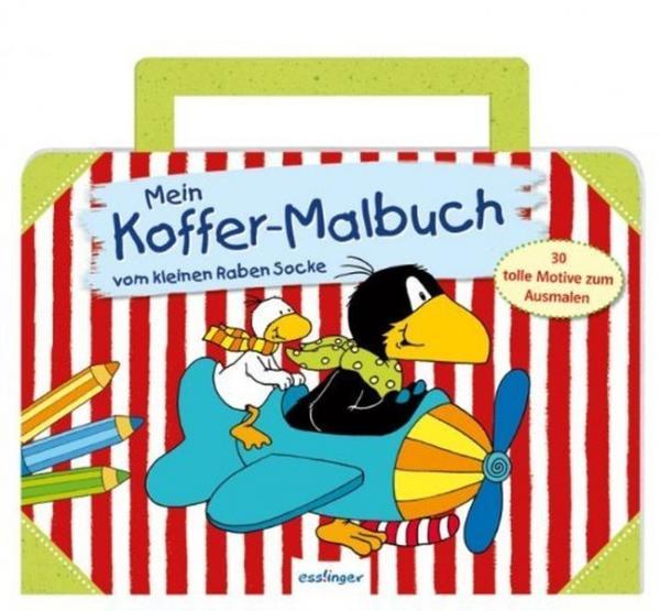 Der kleine Rabe Socke: Mein Koffer-Malbuch - 30 tolle Motive zum Ausmalen