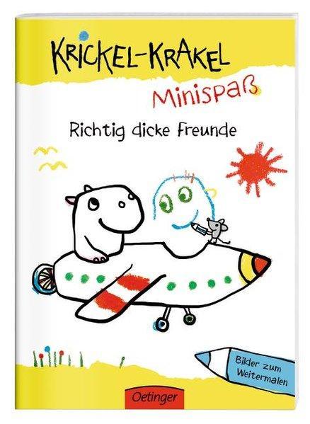 Krickel-Krakel-Minispaß - Richtig dicke Freunde Bilder zum Weitermalen