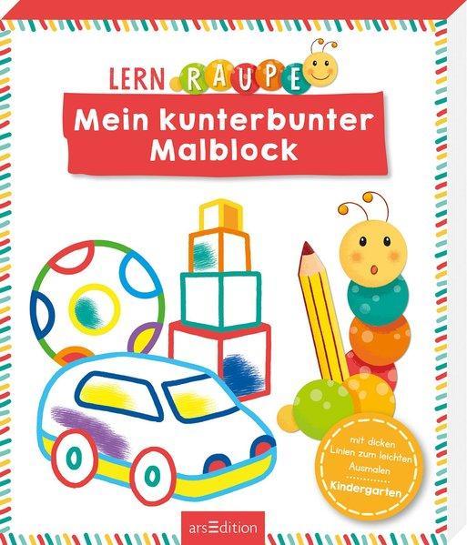 Lernraupe - Mein kunterbunter Malblock (Mängelexemplar)