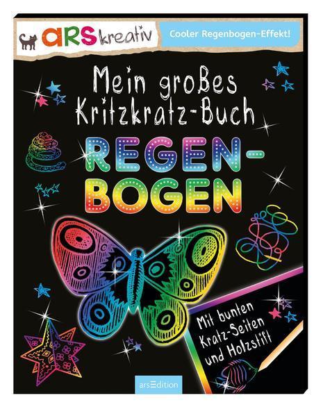 Mein großes Kritzkratz-Buch Regenbogen
