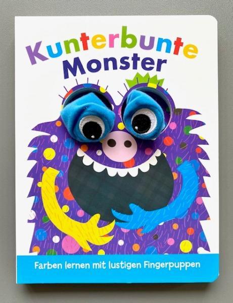 Kunterbunte Monster - Fingerpuppenbuch (Mängelexemplar)