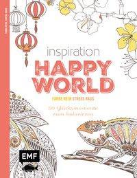 Inspiration Happy World - 50 Glücksmomente zum Kolorieren (Mängelexemplar)