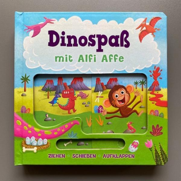 Dinospaß mit Alfie Affe - Ziehen, Schieben, Aufklappen (Mängelexemplar)