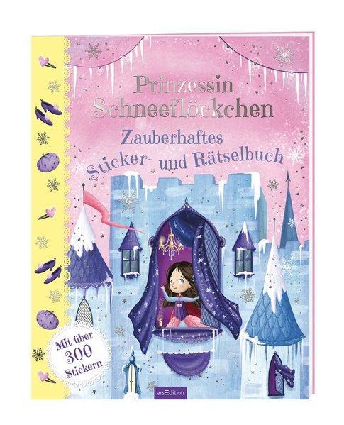 Prinzessin Schneeflöckchen - Zauberhaftes Sticker- und Rätselbuch (Mängelexemplar)