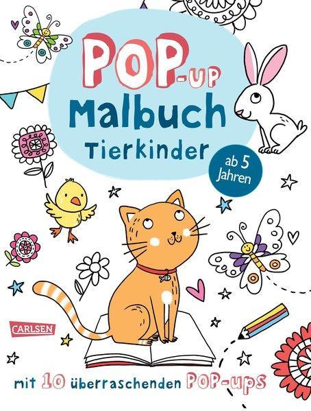 Pop-Up-Malbuch: Tierkinder - Malen & Basteln mit 10 überraschenden Pop-Ups! (Mängelexemplar)