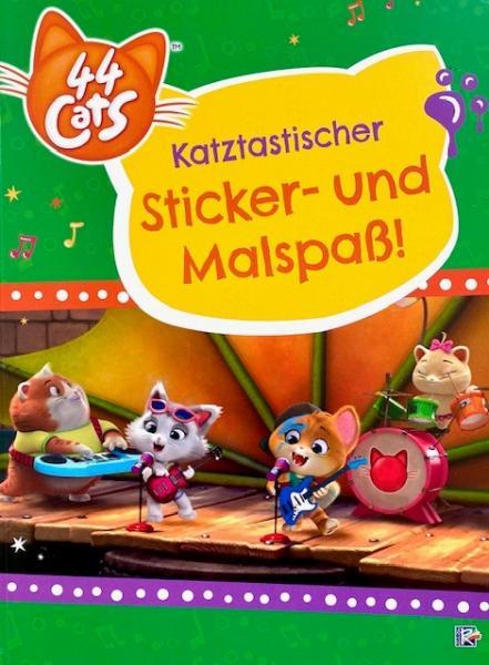 44 Cats: Katztastischer Sticker- und Malspaß! (Mängelexemplar)