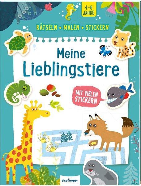 Rätseln, Malen, Stickern - Meine Lieblingstiere (Mängelexemplar)