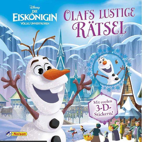 Disney Die Eiskönigin: Olafs lustige Rätsel - Mit coolen 3-D-Stickern (Mängelexemplar)