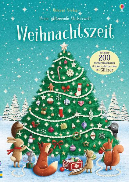 Meine glitzernde Stickerwelt: Weihnachtszeit - mit über 250 Stickern (Mängelexemplar)