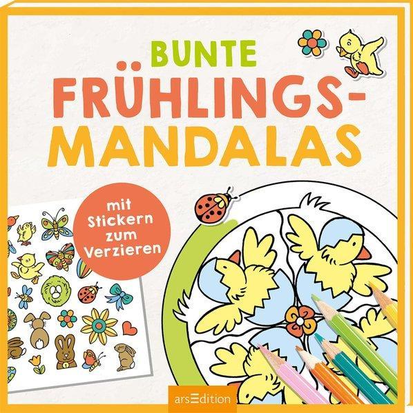 Bunte Frühlings-Mandalas - Mit Stickern zum Verzieren (Mängelexemplar)