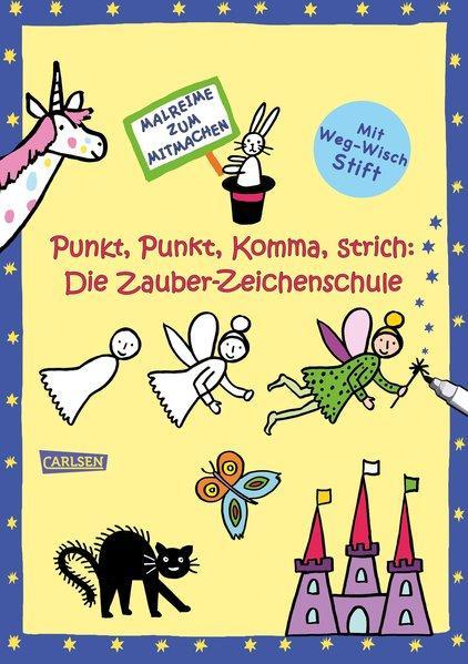 Punkt, Punkt, Komma, Strich: Zauber-Zeichenschule - malen und zeichnen lernen (Mängelexemplar)