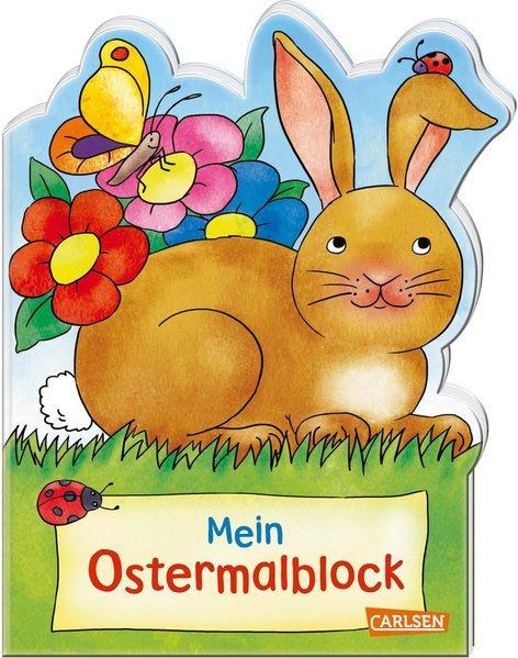 Mein Oster-Malblock (Osterwiese) - Lustige Ausmalmotive für Ostern & Frühling (Mängelexemplar)