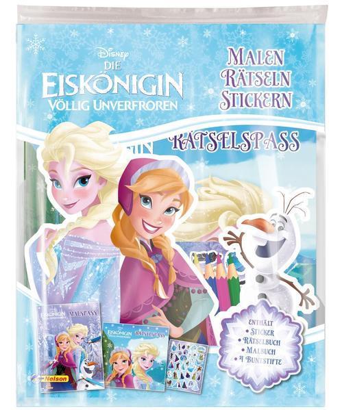Disney Die Eiskönigin: Malen - Rätseln - Stickern - Mit 4 Buntstiften