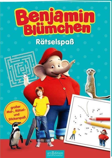 Benjamin Blümchen - Rätselspaß - Großer Mal-, Rätsel- und Stickerspaß (Mängelexemplar)