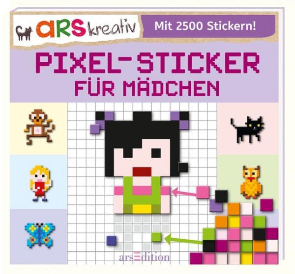 Pixel-Sticker für Mädchen (Mängelexemplar)