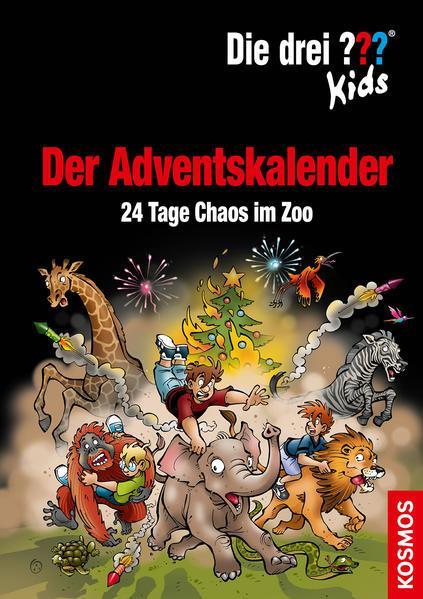 Die drei ??? Kids, Der Adventskalender-24 Tage Chaos im Zoo Extra: Stickerbogen (Mängelexemplar)