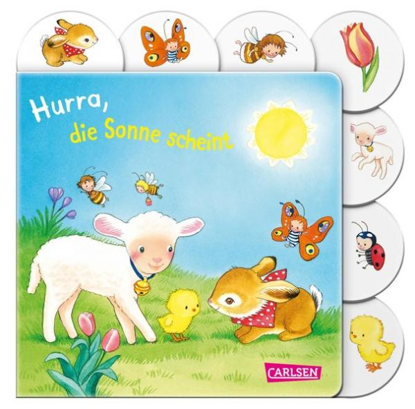 Hurra, die Sonne scheint - Buntes Registerbuch ab 18 Monaten (Mängelexemplar)