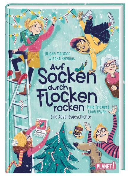 Auf Socken durch Flocken rocken-Eine Adventsgeschichte 24 Kapitel (Mängelexemplar)
