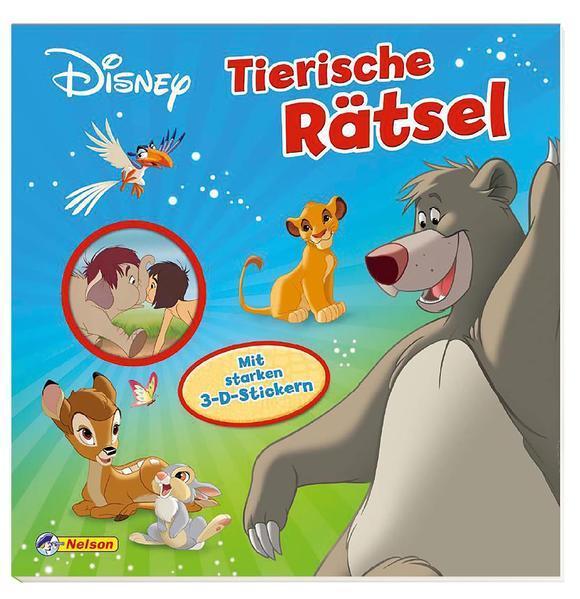 Disney Klassiker: Tierische Rätsel - Mit starken 3-D-Stickern (Mängelexemplar)