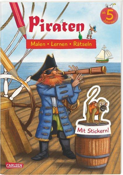 Piraten: Malen Lernen Rätseln - Mit Stickern!