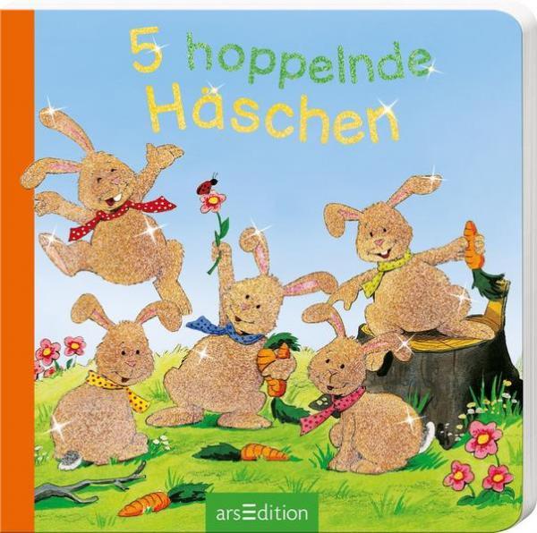 5 hoppelnde Häschen