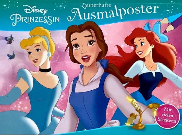 Zauberhafte Ausmalposter: Disney Prinzessin (Mängelexemplar)