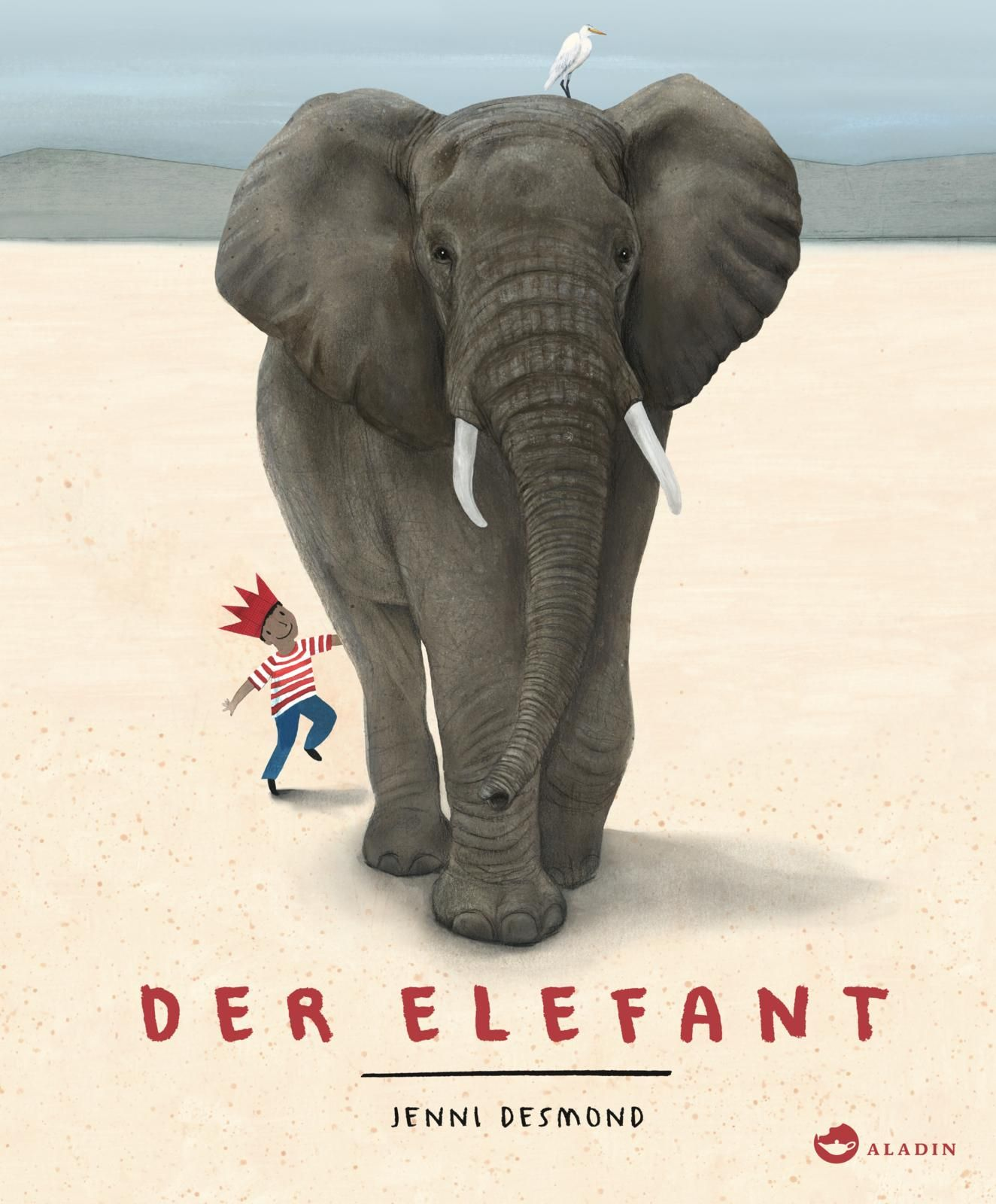 Kunstkarte Elefanten Ganz dicke Grüße von der ganzen Mannschaft