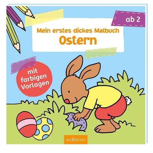Mein erstes dickes Malbuch Ostern - Mit farbigen Vorlagen (Mängelexemplar)