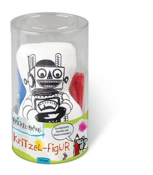 Krickel-Krakel Kritzel-Figur Roboter