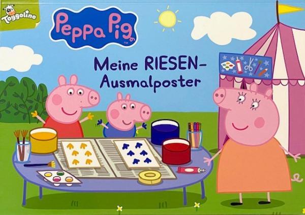 Meine Riesen-Ausmalposter - Peppa Pig