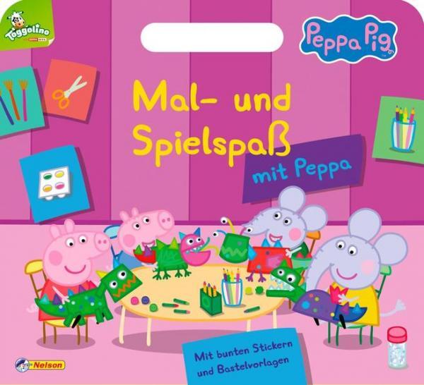 Peppa: Mal- und Spielspaß mit Peppa - Mit Tragegriff, Stickern und Bastelvorlagen (Mängelexemplar)