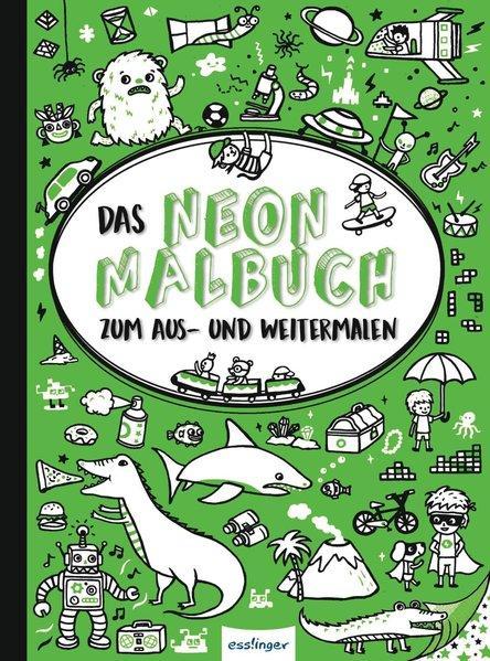 Das Neon-Malbuch, Grün - Zum Aus- und Weitermalen (Mängelexemplar)