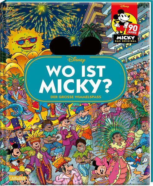 Disney: Wo ist Micky? – Wimmelbuch mit Micky Maus - Der große Wimmelspaß (Mängelexemplar)