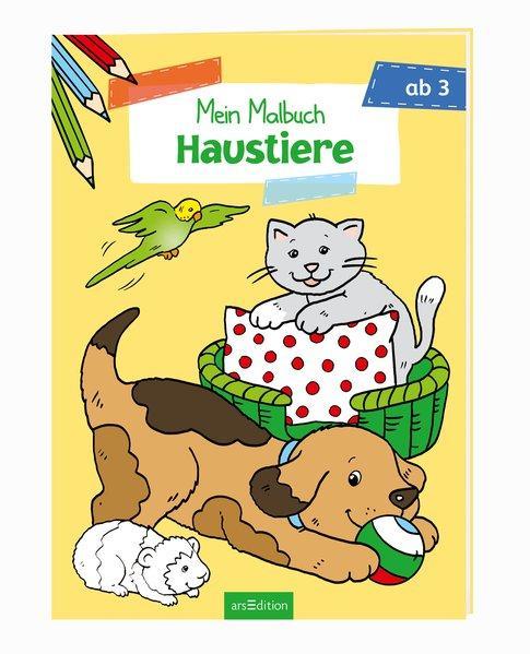 Malbuch ab 3 Jahren - Haustiere (Mängelexemplar)
